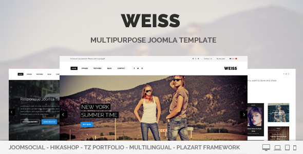 ThemeForest Weiss Multipurpose Joomla Template 8000833