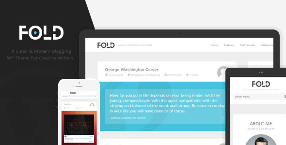 ThemeForest Fold Clean & Flat Wordpress Blog Theme 7907214