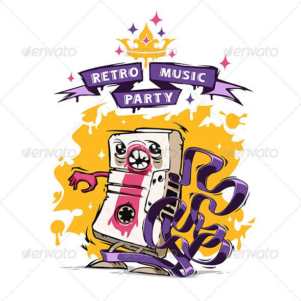 GraphicRiver Retro Music Party Poster 8000733