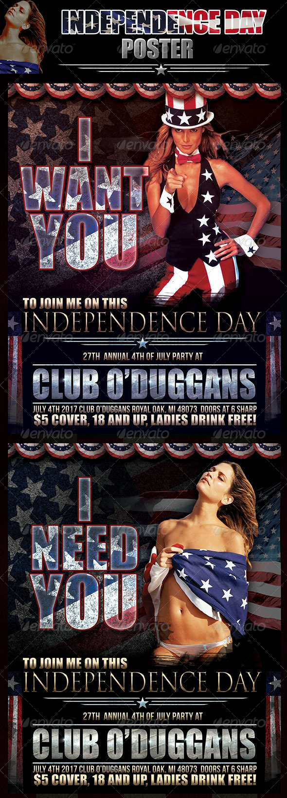 GraphicRiver Independence Day Poster 8001427