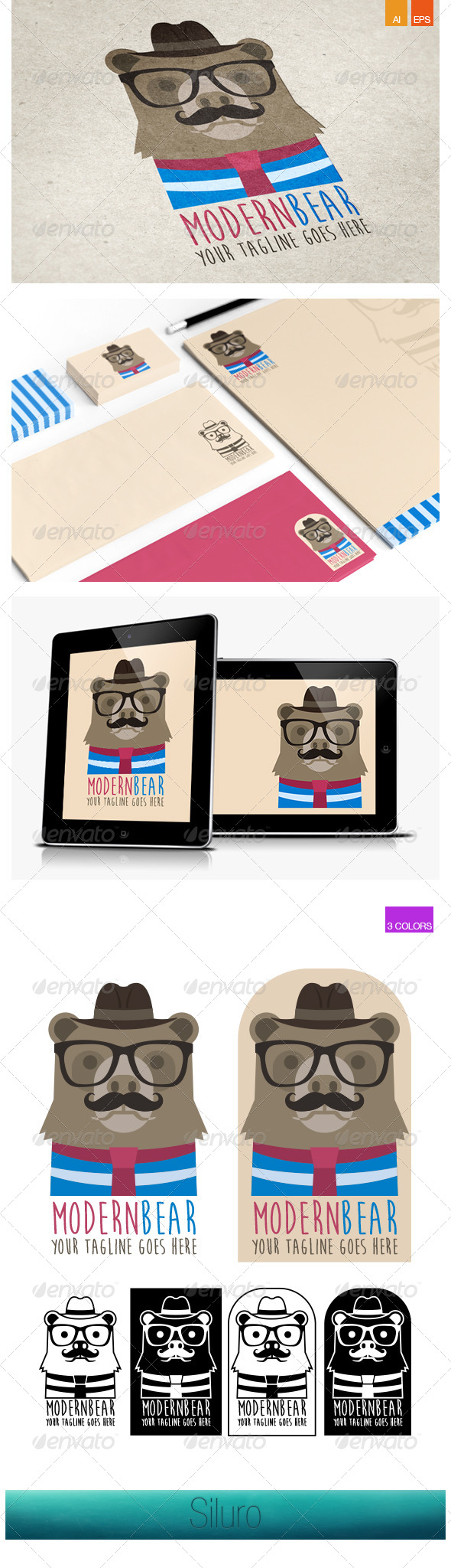 GraphicRiver Modern Bear Logo 8001441