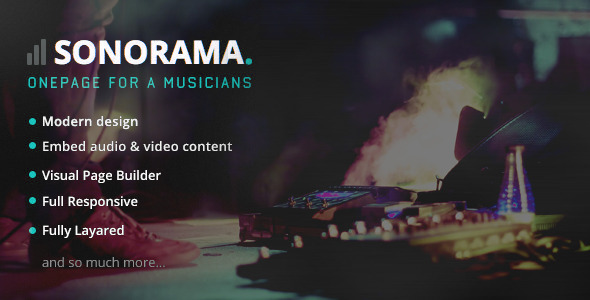 Download Sonorama - Music Band & Musician WordPress Theme nulled download