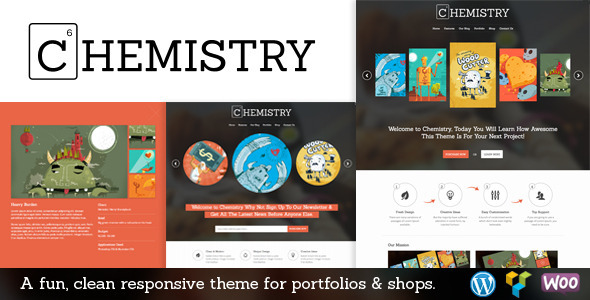 ThemeForest Chemistry Responsive Portfolio & Shop WP Theme 8001480