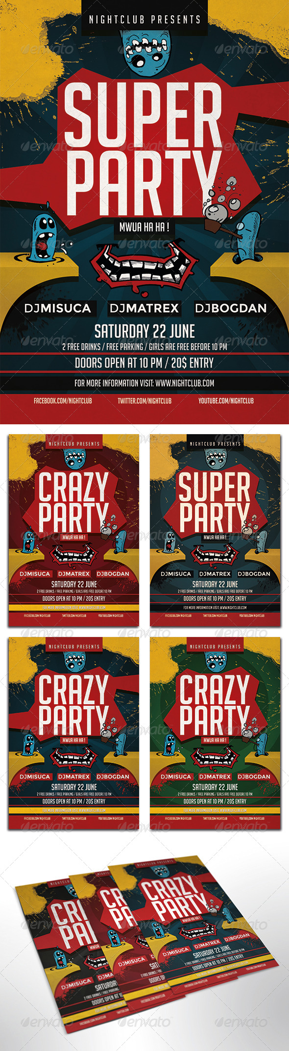 GraphicRiver Super Party Flyer 8001497