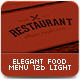Elegant Food Menu 12b - Light Version - GraphicRiver Item for Sale