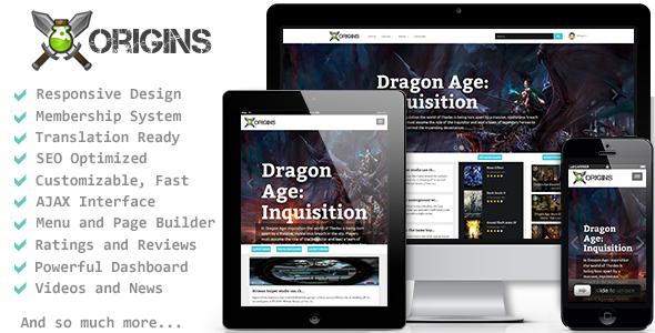 CodeCanyon Origins Video Games Portal 7960224