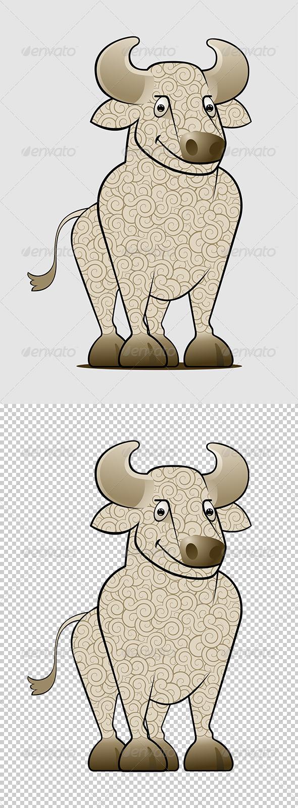 GraphicRiver Cartoon Bull 8001734