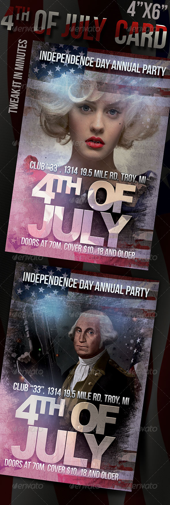 GraphicRiver Independence Day Card 8001771