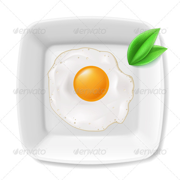 GraphicRiver Fried Eggs Served on Plate 8001934