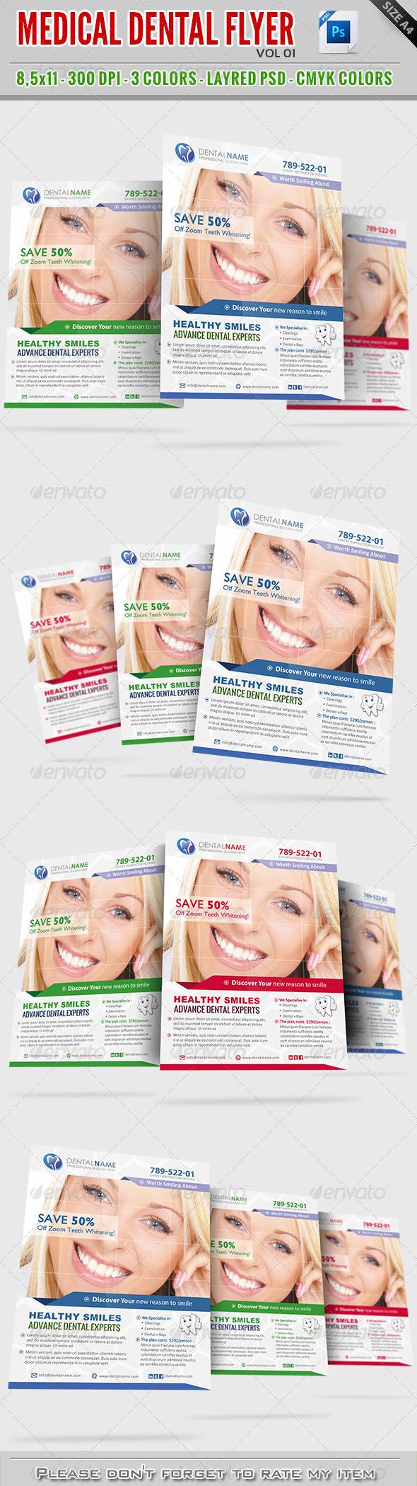 GraphicRiver Dental Medical Flyer Vol01 8002013