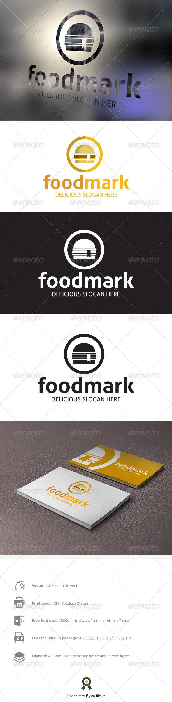 GraphicRiver Foodmark Logo Template 8002041