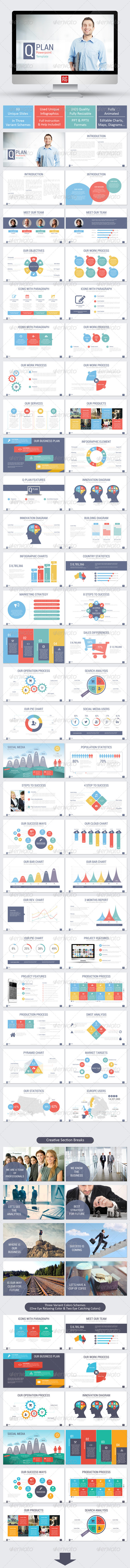 GraphicRiver Q Plan Powerpoint Template 7994682