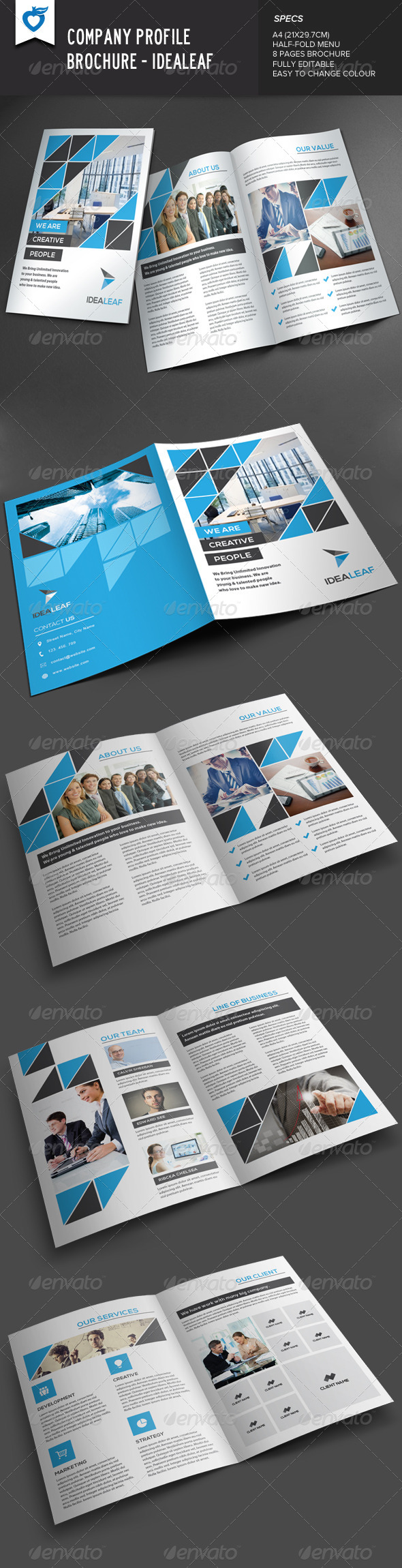 GraphicRiver Company Profile Brochure IdeaLeaf 7989024