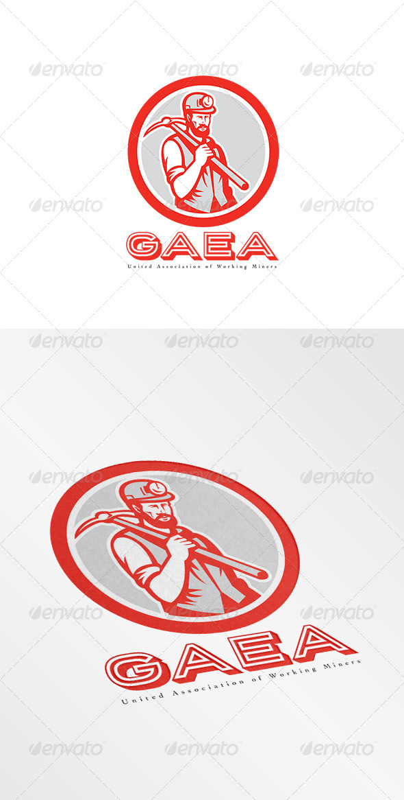 GraphicRiver United Association of Miner Workers Logo 8002270
