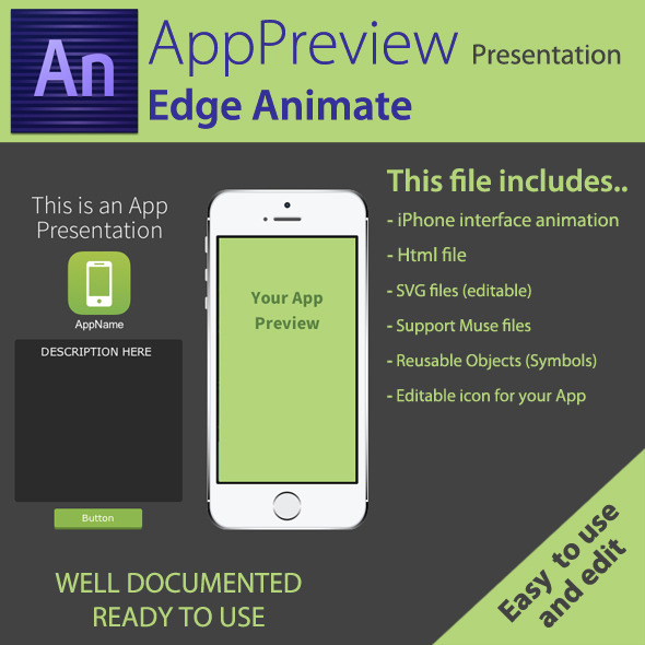 CodeCanyon AppPreview Presentation Edge Animate 8002287