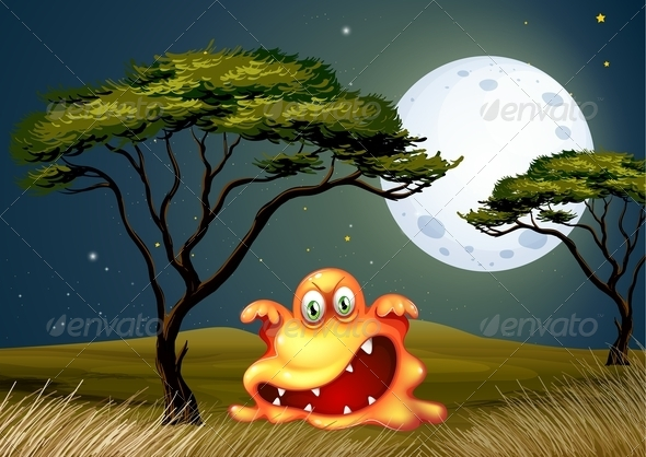 GraphicRiver Scary Monster in the Savanna 8002360