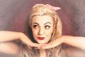 Vintage face of nostalgia. Retro blond 1940s girl - PhotoDune Item for Sale