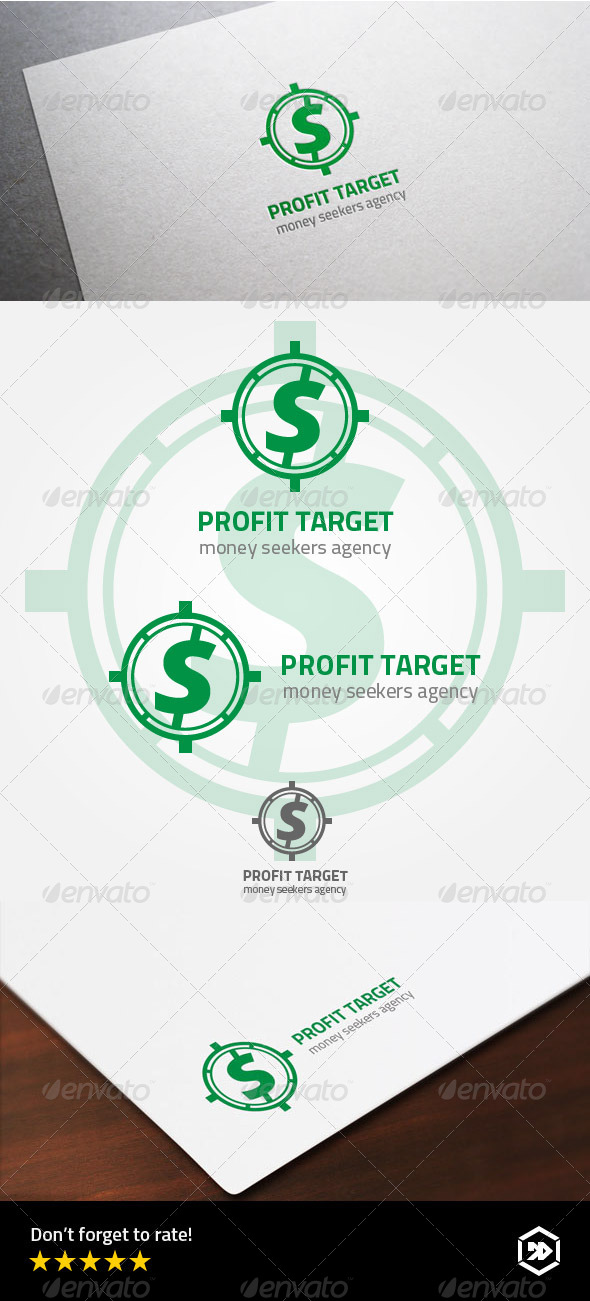 GraphicRiver Profit Target or Money Seekers Logo 8002396