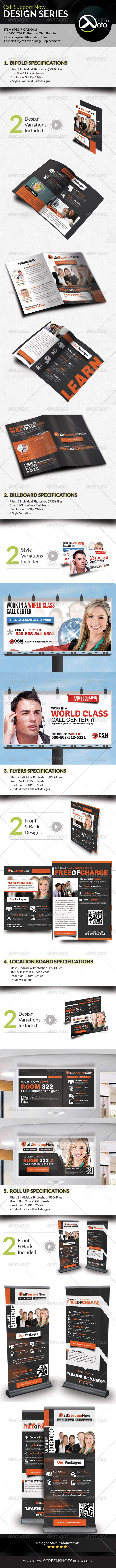 GraphicRiver Call Support Now Solutions Design Series Bundle 8002501
