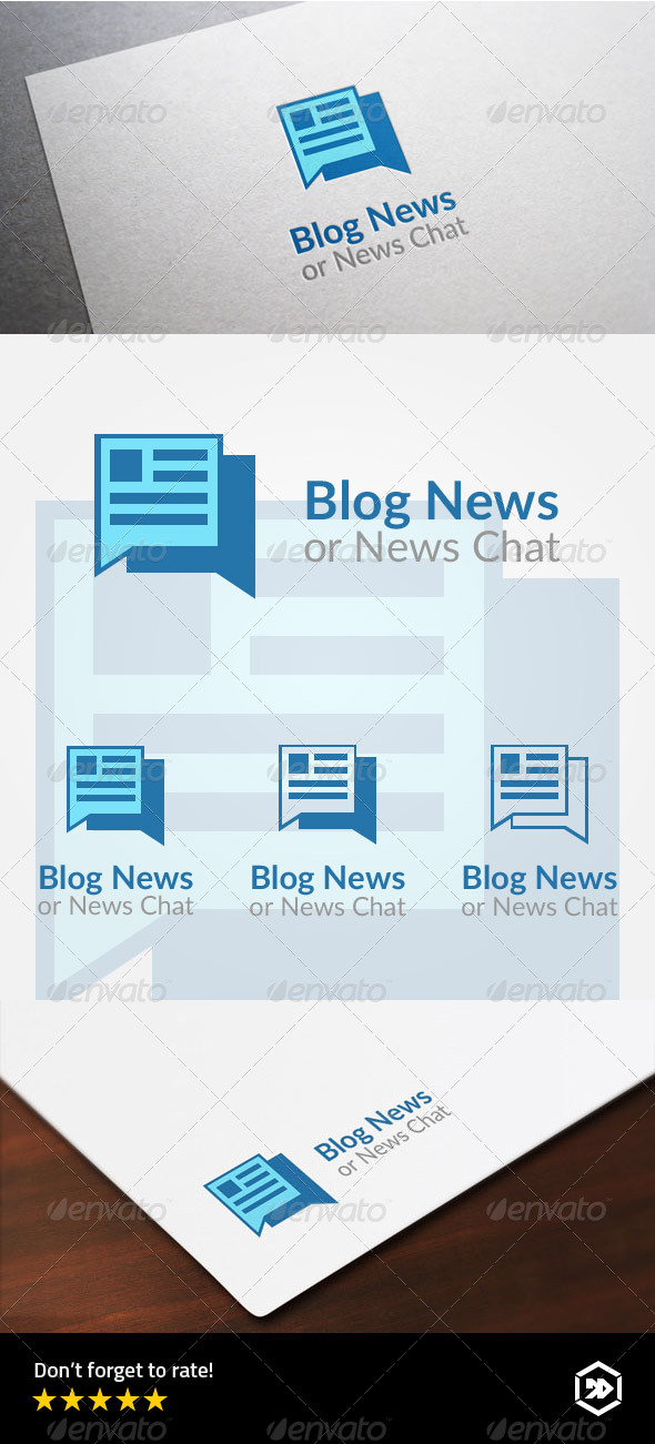 GraphicRiver Blog News or Newspaper Chat Logo 8002771
