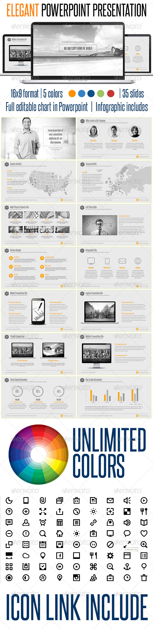 GraphicRiver PowerPoint Presentation Elegant Style 7992135