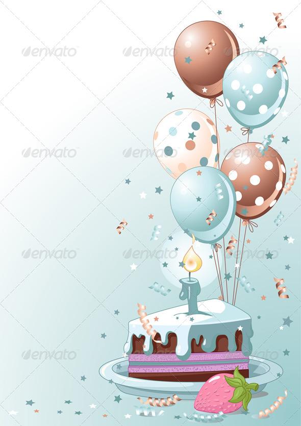 Фотошоп, шарики, пригласительные, тортики