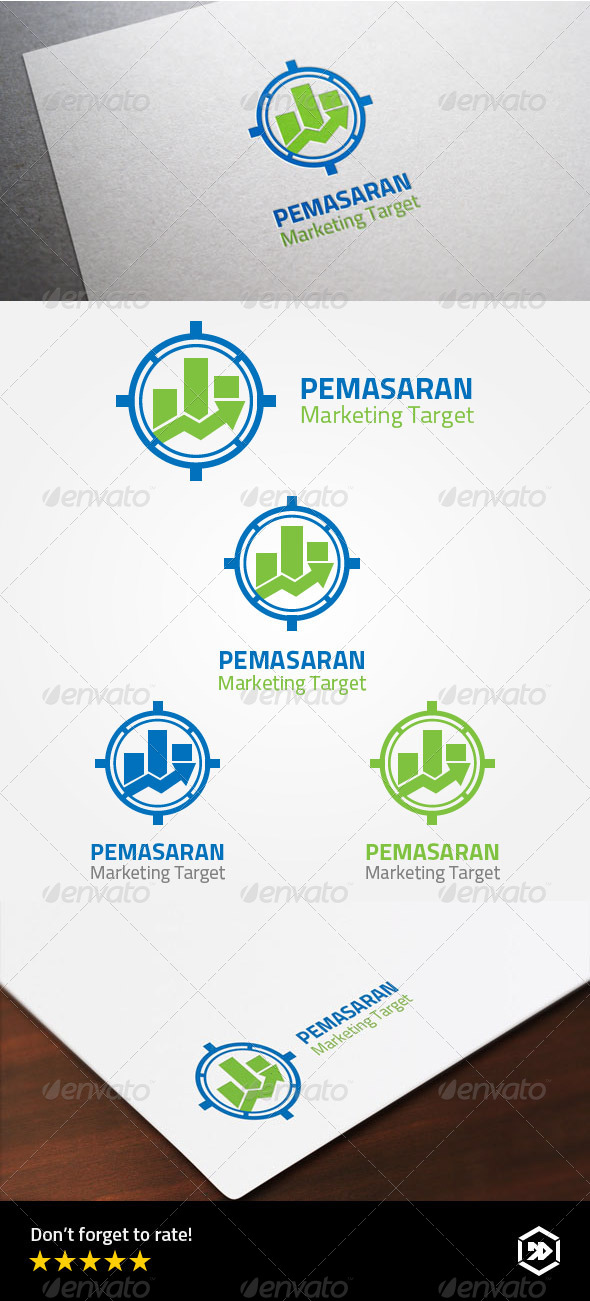 GraphicRiver Target Marketing Strategy Logo 8002876