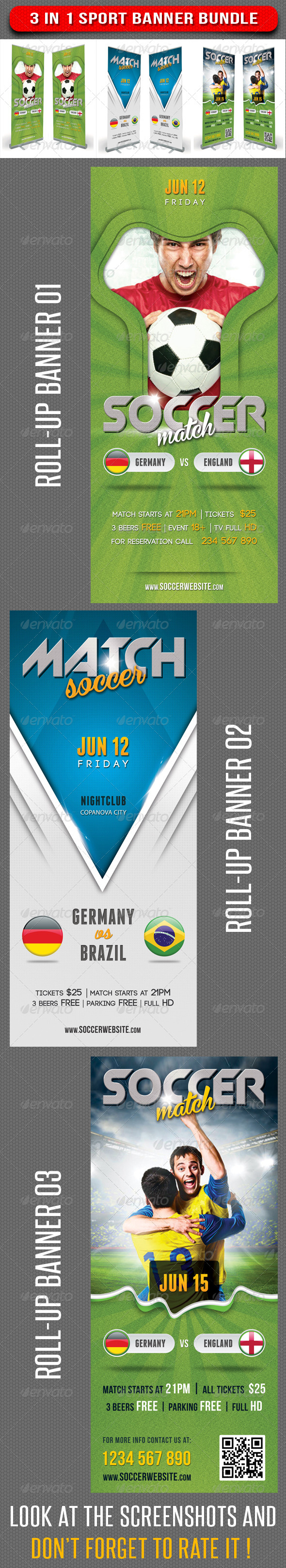 GraphicRiver 3 in 1 Sport Rollup Banner Bundle 04 8002904