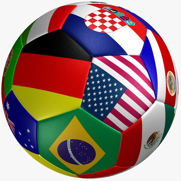 3DOcean Soccer Ball Flag 8002908
