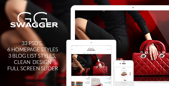 ThemeForest SWAGGER Modern Shop PSD Template 7931799