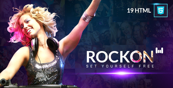 Rockon Responsive HTML Template - Nightlife Entertainment