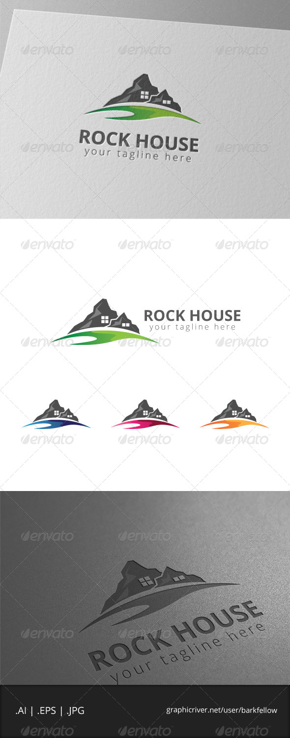 GraphicRiver Rock Mountain House Logo 8002960