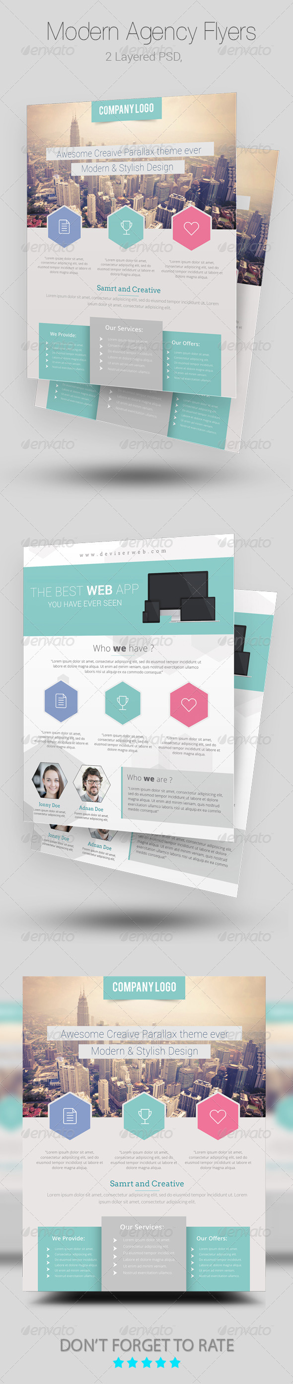 GraphicRiver Modern Agency Flyer Templates 7990958