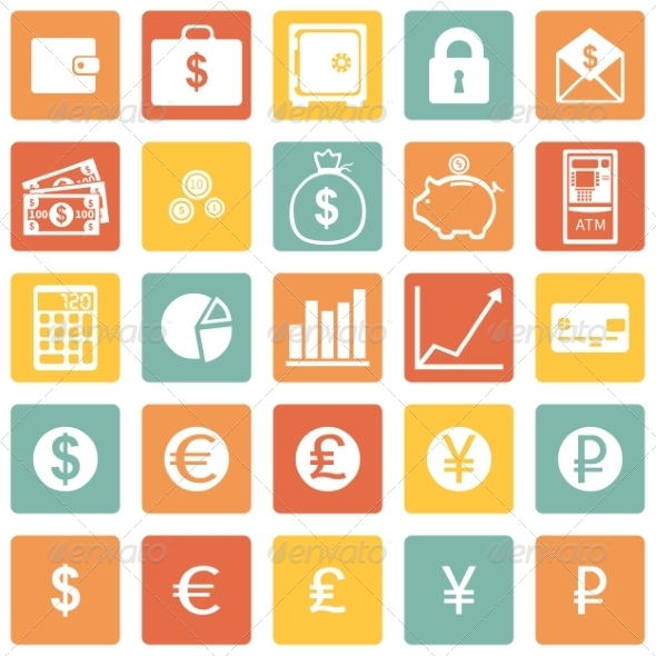 GraphicRiver Vector Set of Finance Icons 8002999
