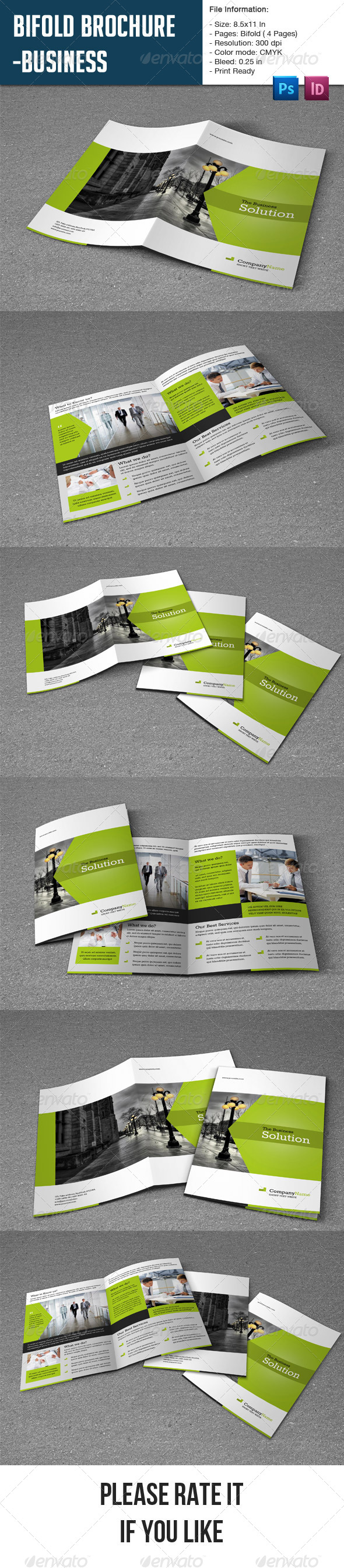 GraphicRiver Clean Brochure Template-4 Pages 7984024
