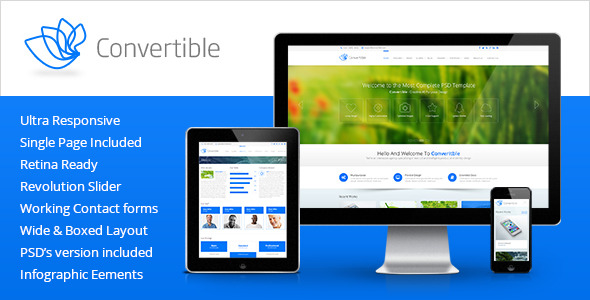 Convertible - Responsive HTML5 Template