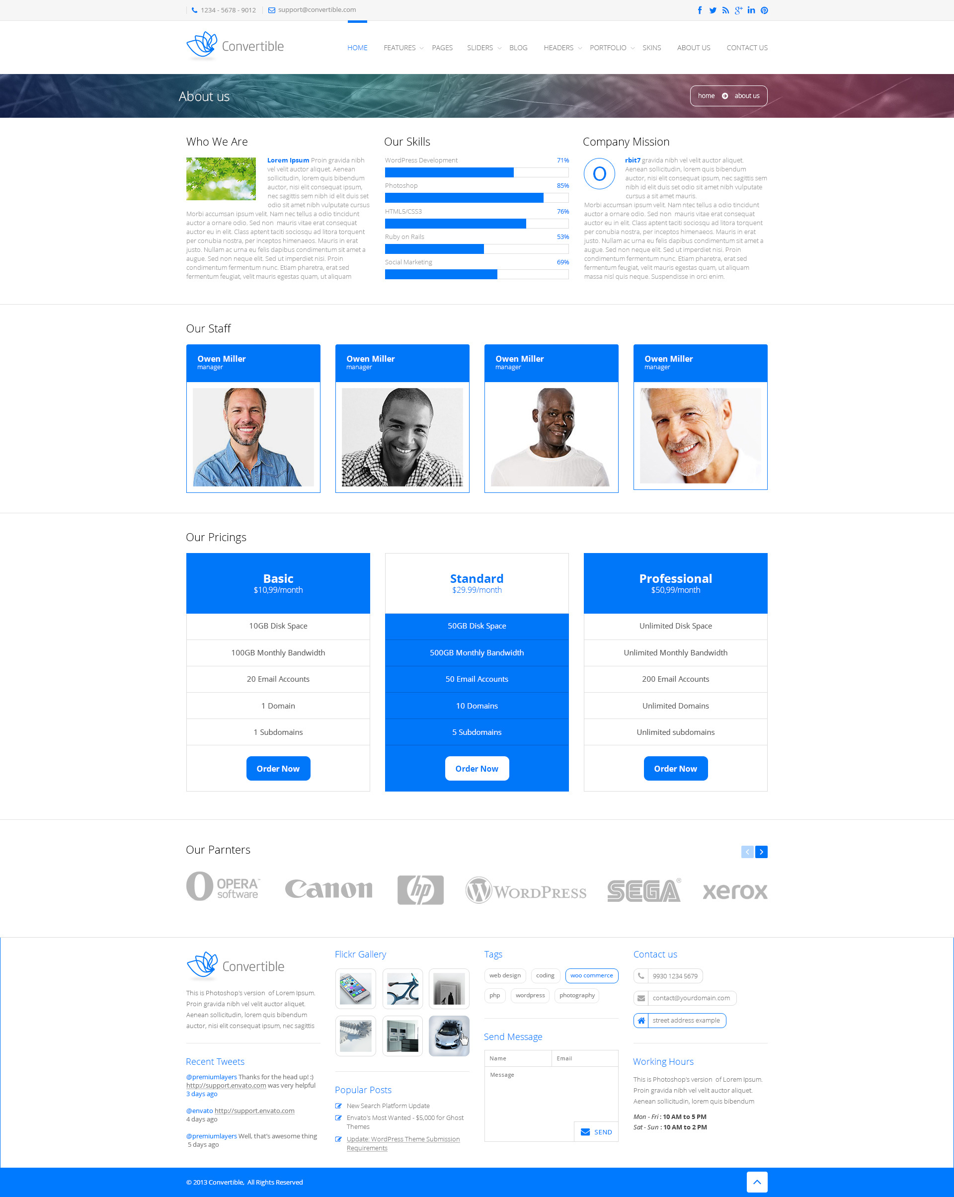 Convertible - Responsive HTML5 Template