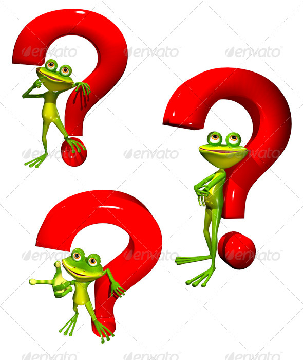 GraphicRiver Frog with a Question Mark 8003041