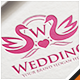 Swan Wedding Letter Crest Logo - GraphicRiver Item for Sale