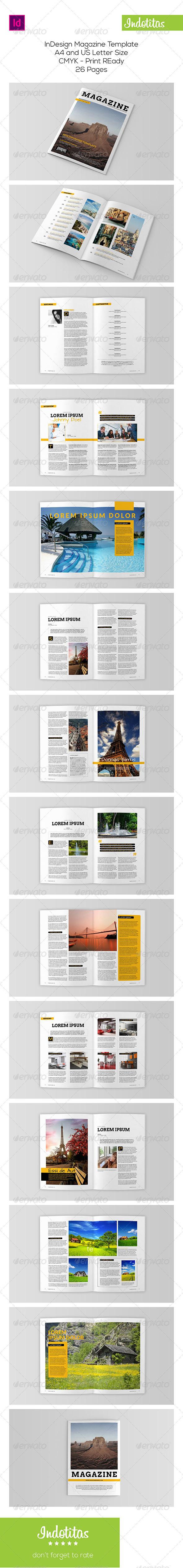 GraphicRiver Indesign Magazine Template 8003145