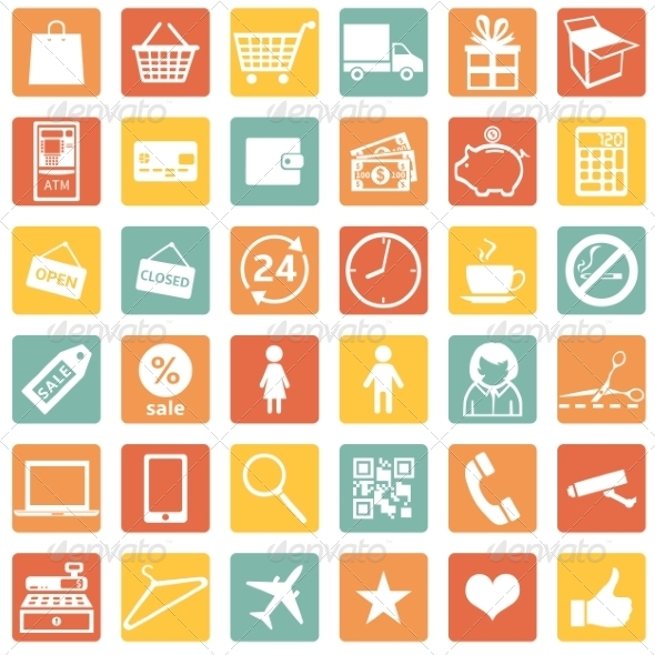 GraphicRiver Vector Set of Shopping Icons 8003146