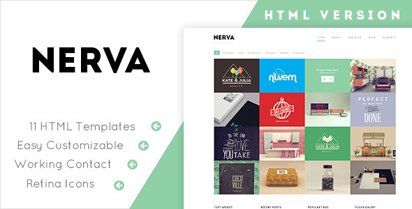 ThemeForest Nerva Minimal Design HTML Template 8003158