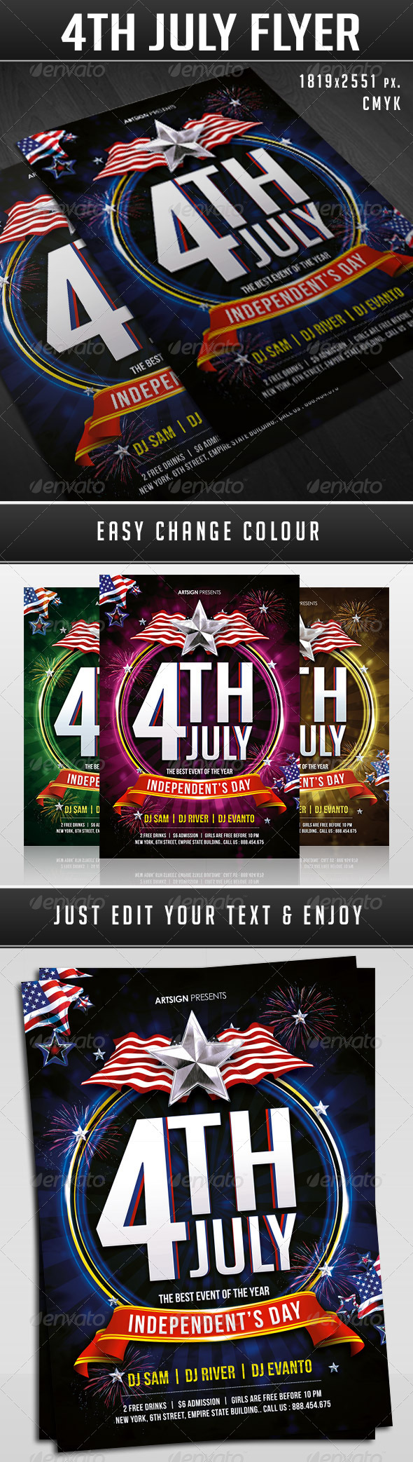 GraphicRiver 4th July Indepedent Day Flyer 8003378