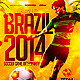 Brazil Soccer Cup Flyer Template PSD - GraphicRiver Item for Sale