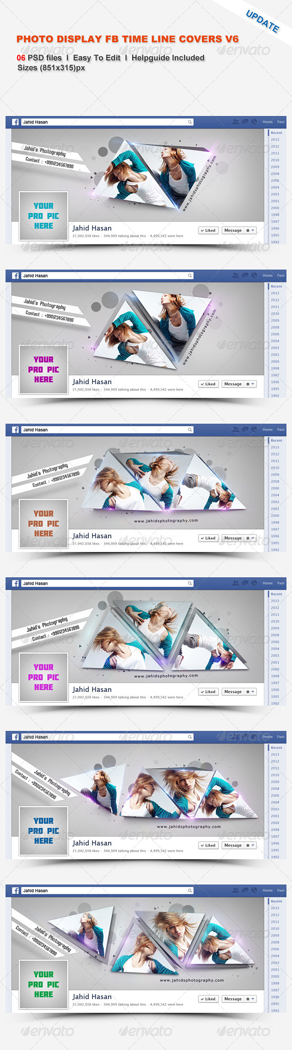 Photo Display FB Timeline Covers V6 - Facebook Timeline Covers Social Media