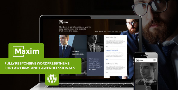 ThemeForest Maxim Simple Company and Lawyer Theme 8004265
