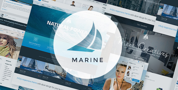 Marine PSD Template - Corporate PSD Templates