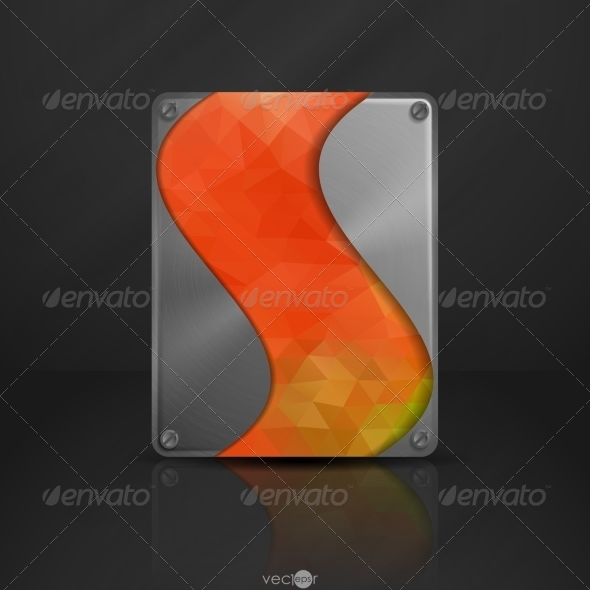 GraphicRiver Metal Texture Plate With Screws 8004300