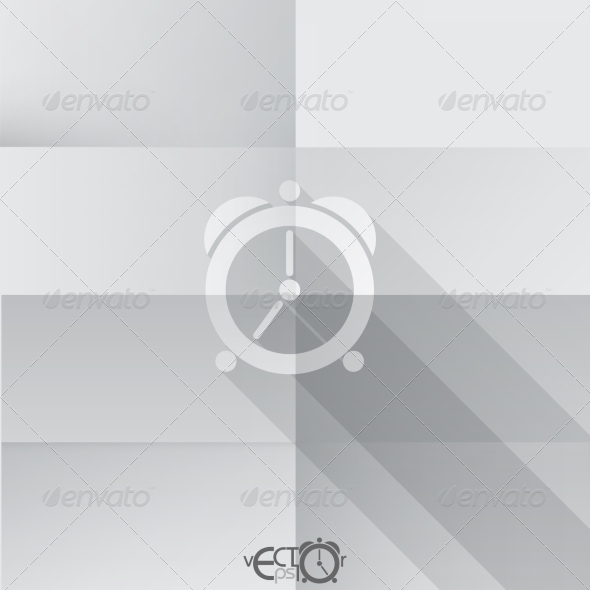 GraphicRiver Paper Clock Icon 8004342