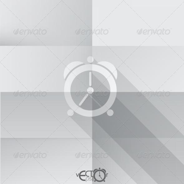 GraphicRiver Paper Clock Icon 8004342